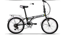 Brand New Cyber 20 in 7 sp Shimano Black&White  Folding bike+Rack+Basket, more