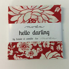 "Hello Darling by Bonnie & Camille - fabric Charm Squares- 42 x 5"" squares Moda"