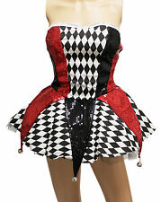 Circus Clown Jokers Sexy Harley Quinn Women Costume for Cosplay Party Halloween
