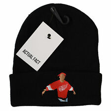 Actual Fact Tupac Black Beanie Winter 2Pac Roll Up Wooly Beanie Hat