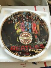 """THE BEATLES """"SGT PEPPERS"""" MINT 25 ANNIV. BRADFORD EXCHANGE COLLECTOR PLATE #1"""