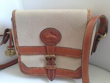 Dooney and Bourke All Weather Pebbled Leather Gray and Tan Purse Handbag