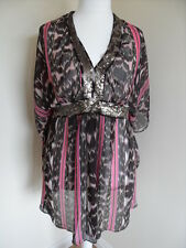 Ladies Monsoon Pink & Brown Beach Cover Up. Size XL.