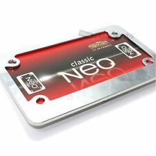 Classic Chrome Metal License Plate Tag Frame for Motorcycle/Scooter/Chopper/Bike