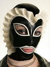 100% Latex Rubber Gummi 0.45mm Mask Hood Party Costume Suit Halloween Ruffle