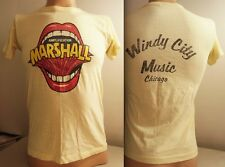 vintage 70s MARSHALL AMPLIFICATION T SHIRT 80s Guitar Amps shouting mouth metal