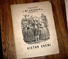 Turlurette ronde de l'opérette Rothomago partition piano chant 1880 Victor Chéri