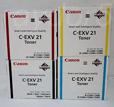 CANON C-EXV 21 Genuine iR C2380 C2880 C3080 C3580 Blk & Clr Toner Set - VAT INCL