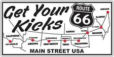 Map of Route 66 States License Plate Get Your Kicks Wall or Car Decoration Metal