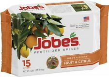 Jobe's Fruit and Citrus Tree Outdoor Fertilizer Food Spikes, 15-Pack, 1612, New