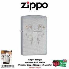 Zippo Angel Wings, Engraved Design Lighter, Chrome Arch #29069
