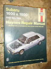1980-1994 SUBARU 1600 1800 HAYNES REPAIR MANUAL SERVICE SHOP WORKSHOP 81 82 90