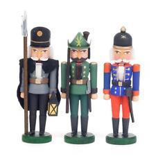 Miniatur Nußknacker Schutzmänner Erzgebirge NEU Werner Walter Volkskunst Seiffen