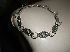 Brand ..New...ANTIQUE.. SILVER.. PLATED..BUTTERFLY  CHAIN.. LINK.. .. BRACELET.