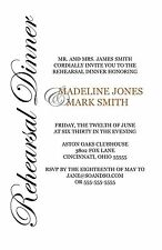 Simple Script Sideways Rehearsal Dinner Custom Invitation Any Colors