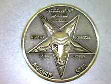 "Lucifer / Morning Star / Satan / Pentecostal  - 1 1/4"" Solid Bronze 3D  Coin"