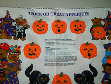 Trick or Treat Appliques Panels by Cranston VIP Print Works Co. 3 Panels