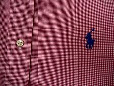 Ralph Lauren Pony Logo Button Down Shirt Classic Fit-size 16  32/33 red check
