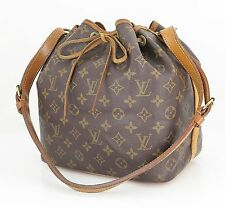 Authentic LOUIS VUITTON Petit Noe Monogram Shoulder Tote Bag Purse #22103