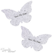 BUTTERFLY SHAPED SAVE THE DATE CARDS x10 -Wedding- FULL RANGE IN SHOP!