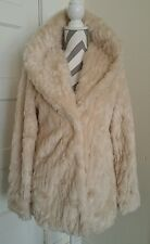 C&C California women's tan faux fur JACKET coat size SMALL  New With Tags