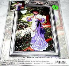"""Design Works Counted Cross Stitch Kit LADY IN THE GARDEN 11"""" x 19"""""""
