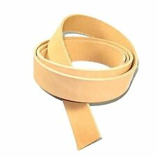 "Natural Cowhide Strip Belt Blank 3/8"" (9.5mm) Leather Veg Tan"