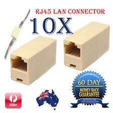 10 X RJ45 Cat 5 Female to Female Network Ethernet LAN Connector Joiner Extender
