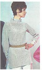 1968 Vintage patrón de ganchillo (V39) por Vogue