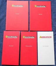 Ferrari Racing Days Hockenheim 2013 Menu Card Menükarten Set brochure depliant