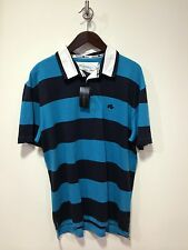 Raging Bull Short Sleeve Striped Rugby Top/Electric Blue - 5XL
