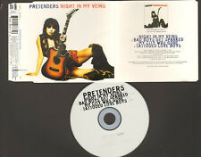 PRETENDERS 4 track NEW CD SINGLE Night In My Veins Bad Boys Get Spanked My City