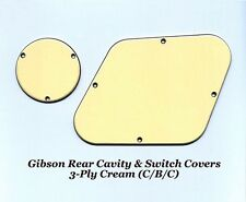 Les Paul LP 3-Ply Creme Rear Cavity Control Cover Set Guitar Gibson Project NEW