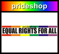 Equal Rights For All Bumper Rainbow Store Adhesive Sticker Lesbian Gay Pride #24