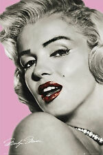 MARILYN MONROE - PINK ART POSTER - 24x36 SEXY PIN UP GLAMOUR 32009