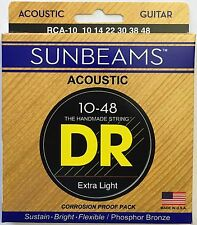 DR RCA-10 Sunbeam Acoustic Guitar Strings Lite 10-48 gauge