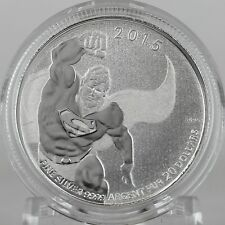 Canada 2015 $20 Superman DC Comics 1/4 oz. 99.99% Pure Silver Specimen Coin