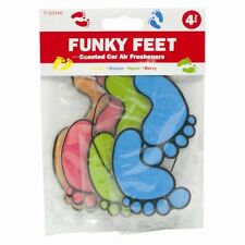 Brand New 4 x Pack Car Truck Home Air Freshener  Funky Feet with Free delivery