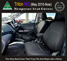 FRONT Seat+CONSOLE Covers FULL BACK+ MAP POCKETS Mitsubishi MQ Triton Neoprene