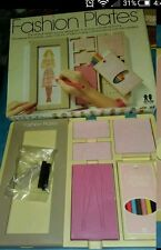 100% complete Vintage Tomy Fashion Plates 1978 Box rubbing crayon toy barbie