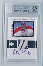 2009-10 Patrick Roy Exquisite Collection Rookie Patch BGS 8.5 / 10 Auto # 10/25
