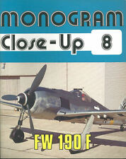 MONOGRAM CLOSE-UP 8 FOCKE WULF Fw190F WW2 GERMAN LUFTWAFFE SG SCHLACHTFLUGZEUG