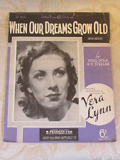 Antique Sheet Music Of When Our Dreams Grow Old, By Eddie Pola - 1940