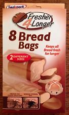 SEALAPACK BREAD STORAGE BAG PACK OF 8 BREAD BAGS KEEPS BREAD FRESH LONGER 2 SIZE