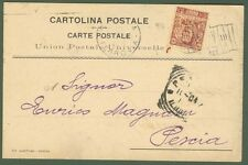 PERFIN. FRATELLI GONDRAND. Cart. commerciale del 1904 affr. cent. 10 Floreale