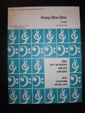 Hoop Dee Doo Sheet Music Vintage 1968 Polka For Organ Milton De Lugg McMains (O)