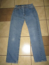 Vtg LEVIS 501 USA WOMEN Button Fly PERFECT FADE Denim Jeans TAG 30x34 W29 x L33