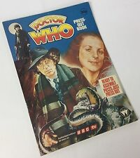 Doctor Who Rare Vintage 1970's Press-out Book, Unused, Tom Baker, Dr. Who