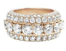 14K Rose Gold Genuine Diamond Solitaire Prong Mens Band Style Ring 7 CT 14MM