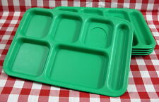 (4) Used - 6 Compartment - CAMBRO - Camping Picnic Patio Cafeteria Lunch Trays